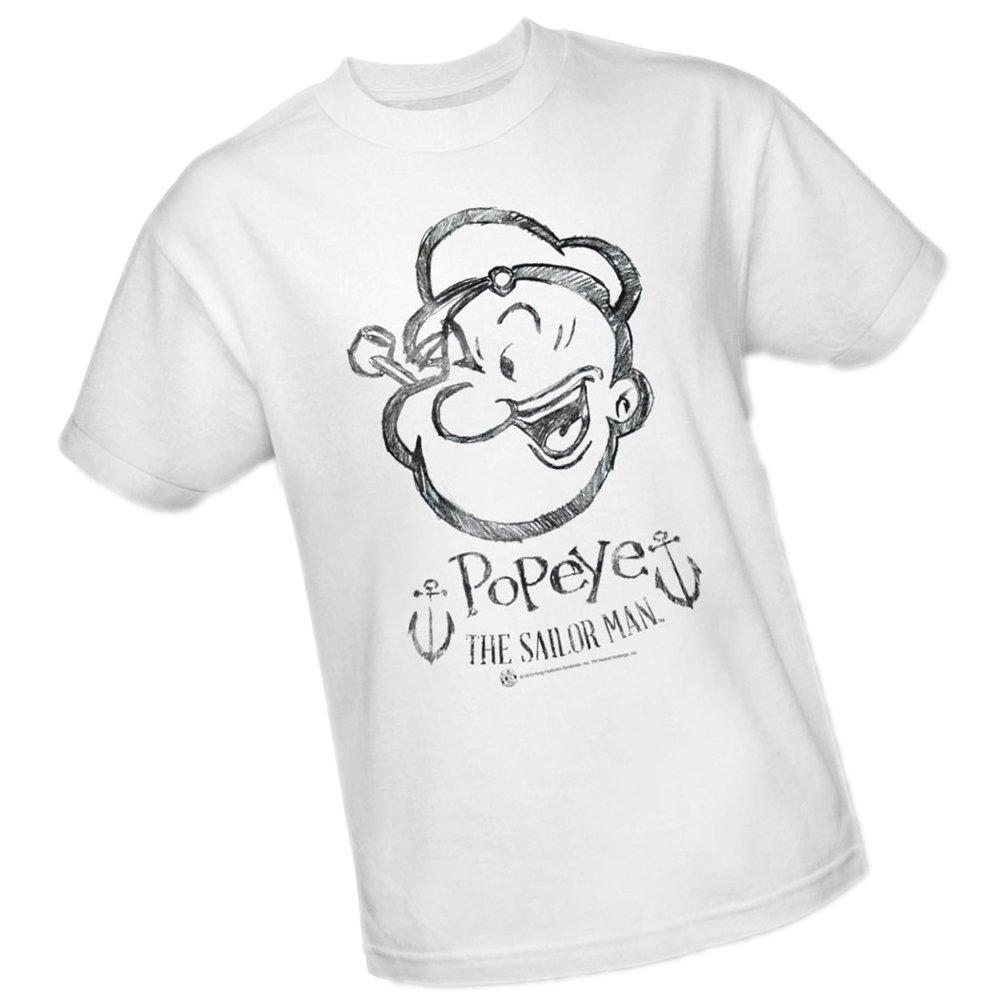 Popeye Sketch Portrait Adult T Shirt
