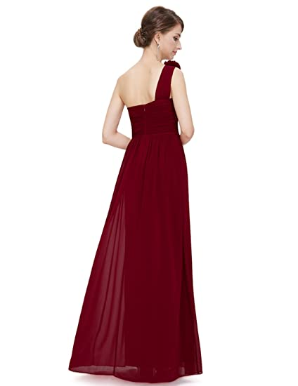a0a7bc8f03 Ever-Pretty Flower One Shoulder Long Bridesmaids Evening Party Dress 08237  at Amazon Women s Clothing store