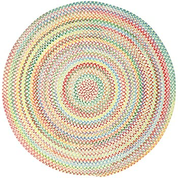 Amazon Com Capel Rugs Baby S Breath 5 Ft Round Braided Area Rug