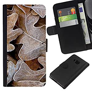 KingStore / Leather Etui en cuir / HTC One M9 / La helada del invierno del otoño de Alaska Otoño
