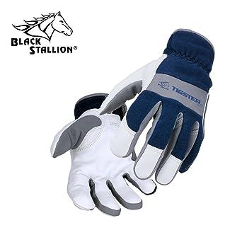 Resistente al fuego Tigster itcentre ajustado antiportador soldadura Tig guantes - pequeño
