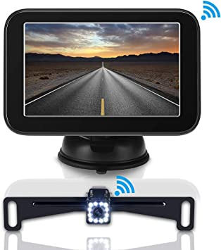 Coolwoo Kabelloses Rückfahrkamera Set Ip 68 Wasserdicht Super Nachtsicht Rückfahrkamera Mit 12 7 Cm Lcd Monitor Rückfahrsystem Für Kleine Autos Suvs Pickup Auto