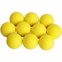 Generic Golf Ball Golf Training Soft Foam Balls Practice Ball - Yellow 10pcs-13006929MG