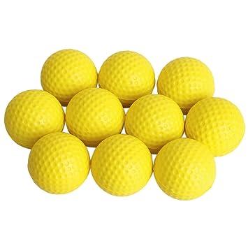 10pcs Espuma Suave PU Pelota Ball Bola De Golf Para Práctica Formación Amarillo: Amazon.es: Deportes y aire libre