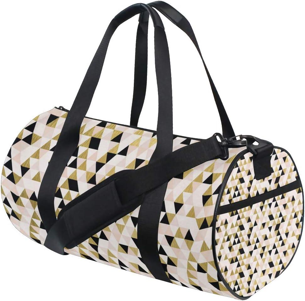 MALPLENA Color Triangle Holiday Background Drum gym duffel bag women Travel Bag