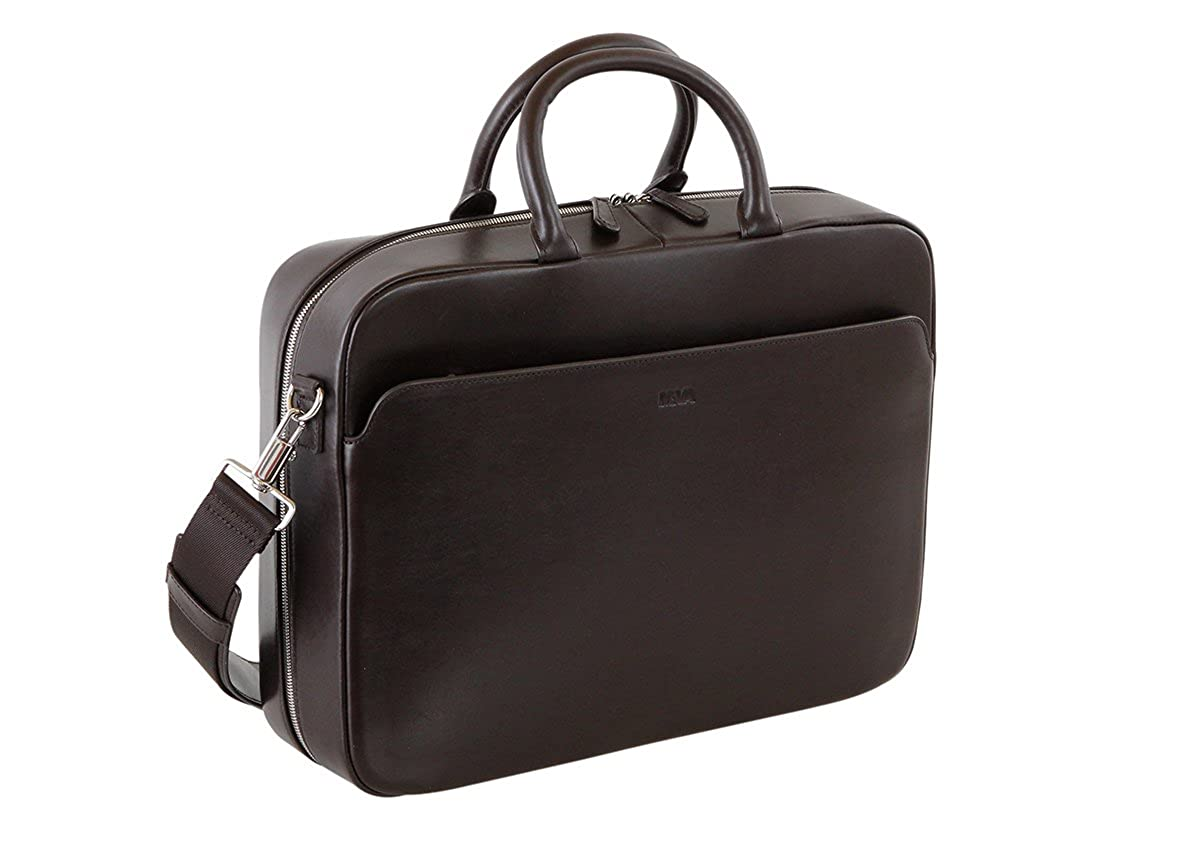 [ナヴァ・デザイン] Milano Briefcase small MI083 CHO chocolate