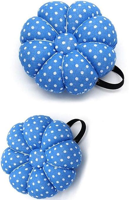 Blue BFDESRWFZ 2 Pack Sewing Wrist Band Pin Cushions Wearable Needle Pincushions
