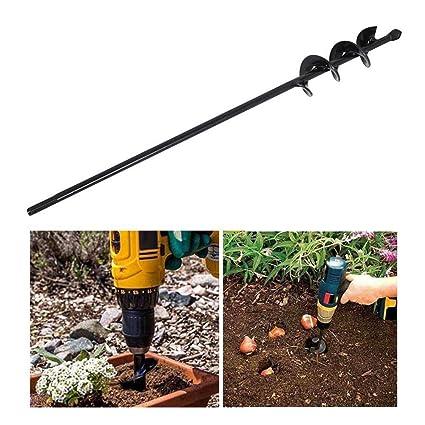 Bulb Planter Auger Drill Bit Garden Digger Hole Post Electric Spiral Bedding