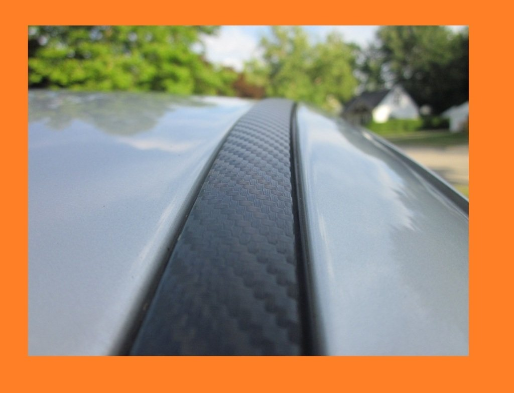 2002-2007 MITSUBISHI LANCER CARBON FIBER ROOF TRIM MOLDINGS 2PC 2003 2004 2005 2006 02 03 04 05 06 07 true-line