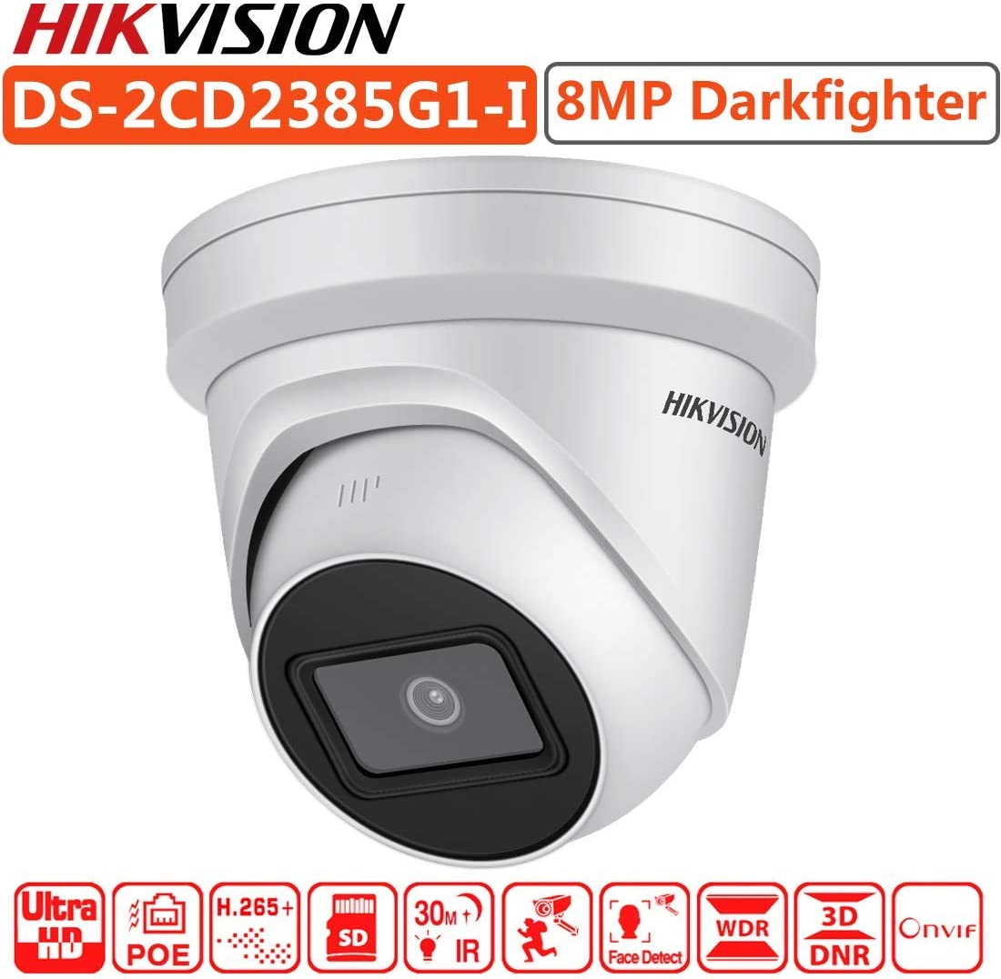 Hikvision Camera DS-2CD2385G1-I 2.8mm Lens 8MP 4K IR Fixed Turret Network Camera PoE H.265 SD Card Slot IR IP67 Original English Version