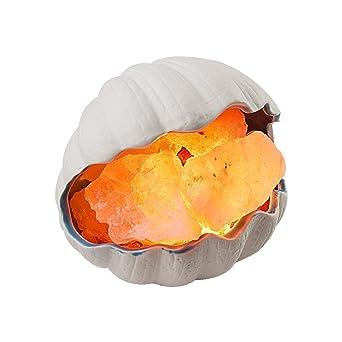 DELIPOP Muschel Himalaya Salzlampe Dimmbar für Schlafzimmer die ...