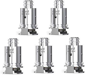 SMOK- Pack de 5 resistencias (0.6 ohm) para para Kit Nord (sin ...