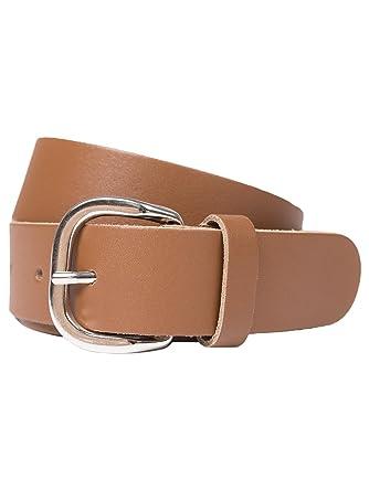 208926c2b542 shenky - Longue ceinture en cuir - marron (cognac) - largeur 4 cm ...
