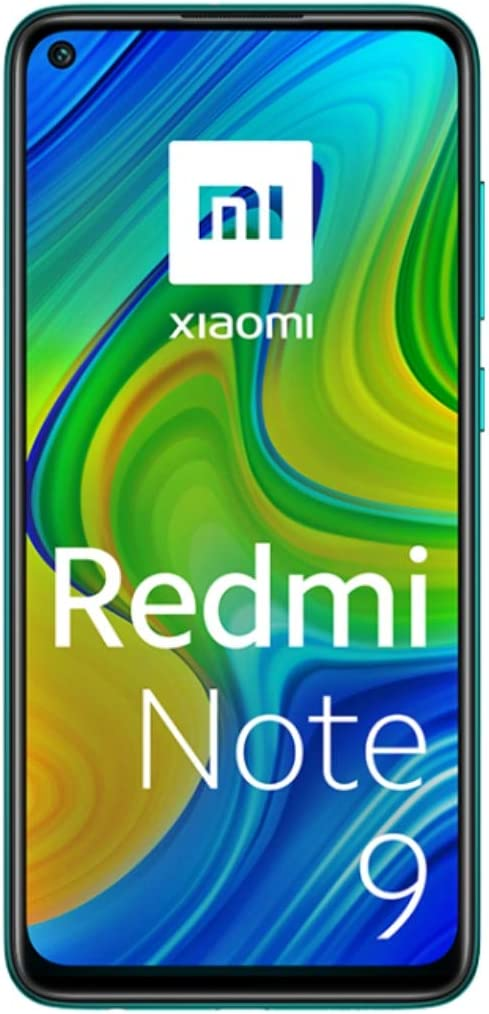 "Xiaomi Redmi Note 9 Smartphone 4GB 128GB, 48MP Quad Camera, 6.53""FHD + DotDisplay, 5020 mAh, 3.5mm Headphone Jack NFC, Verde [European version]"