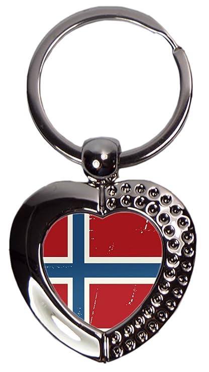 Llavero Agencia De Viajes Vacaciones Noruega Corazón impreso ...