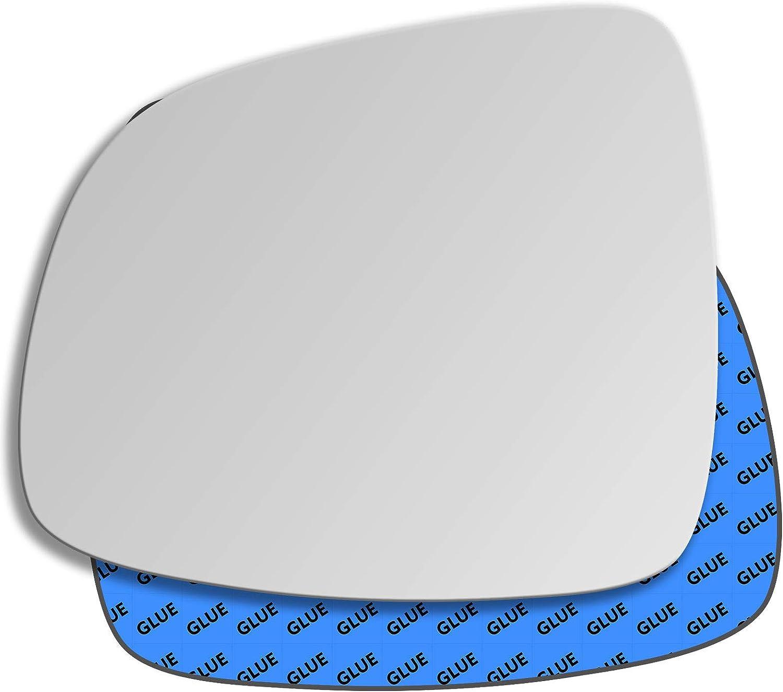 Hightecpl 176LS Left Passenger Side Convex Door Wing Mirror Glass