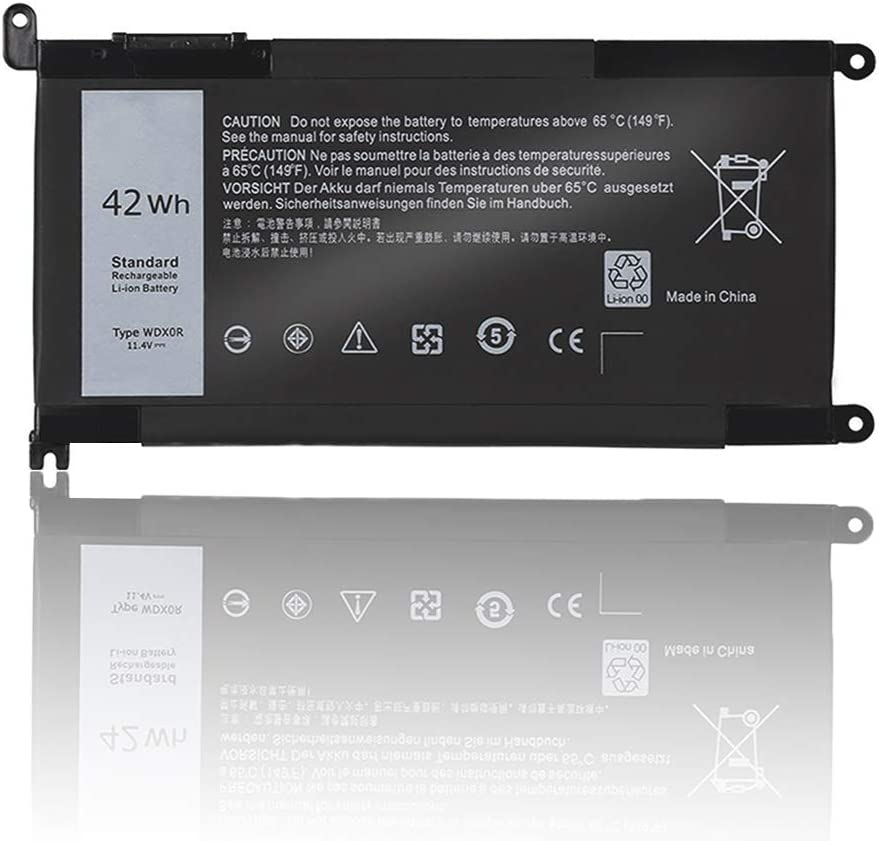 NATNO WDX0R Laptop Battery for Dell Inspiron 13-5000 13-7000 15-5000 15-7000 17-5000 Series 7378 7368 5368 5378 5379 7560 7569 7570 7579 5565 5567 5568 5578 5767 5765 [42Wh 11.4V 4Cell]