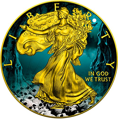 [2016 United States Modern Commemorative HALLOWEEN Walking Liberty 1 Oz Silver Coin 1$ US Mint 2016 BU Brilliant] (Womens Halloween Ideas)