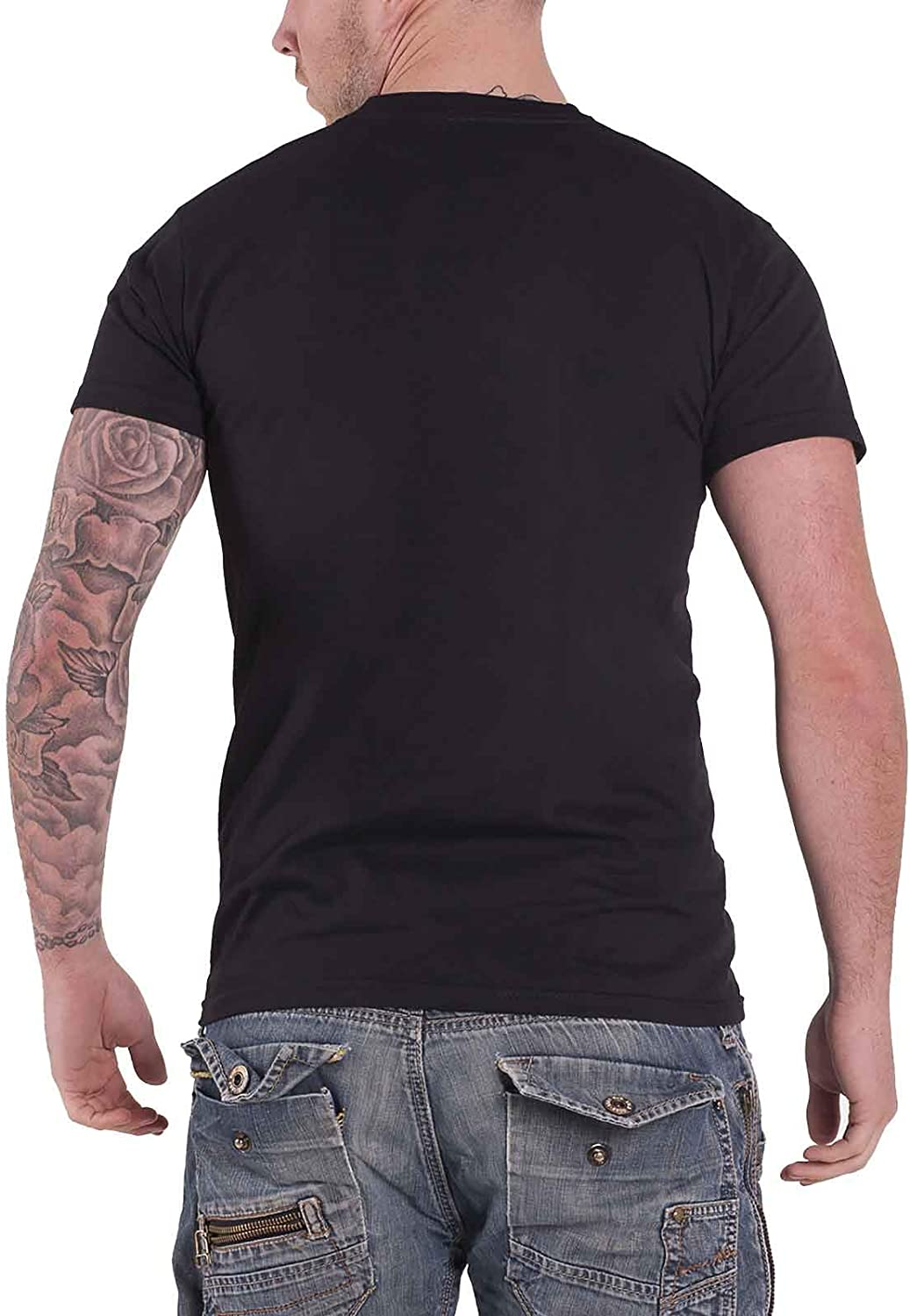 Fluido Rosa T Shirt Vintage Distressed Division Bell Logo Ufficiale Uomo nuovo