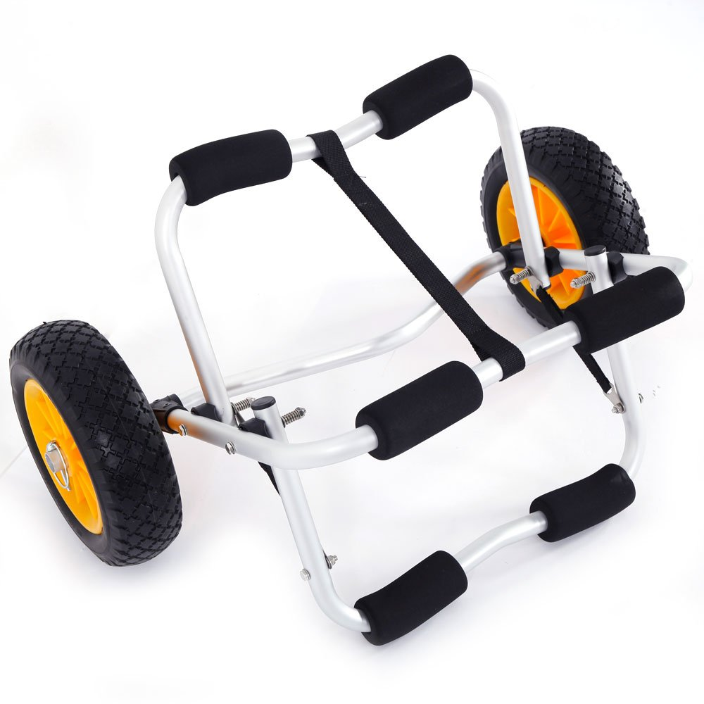 SIBO Kayak Carrier Canoe Jon Boat Dolly Trailer Tote Trolley (ship from US)