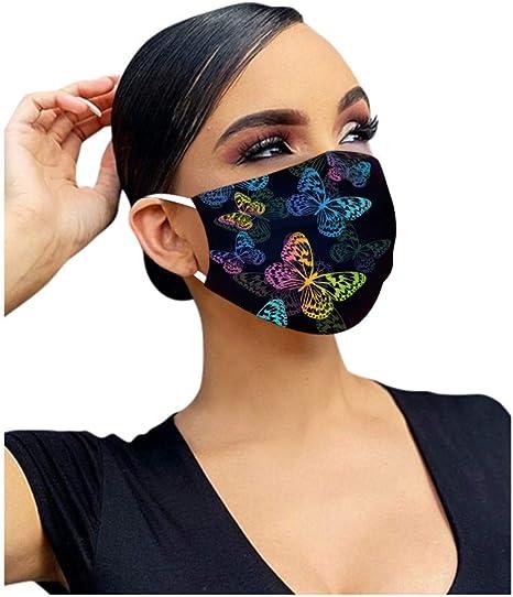 JJsmile 10-100 St/ück Einweg Schmetterling Motiv,5lagige Mund-Nasen-Schutz,Nicht Gewebt,Filtration-Zertifiziert,Atmungsaktiv Mundbedeckung Halstuch Bandana f/ür Erwachsene