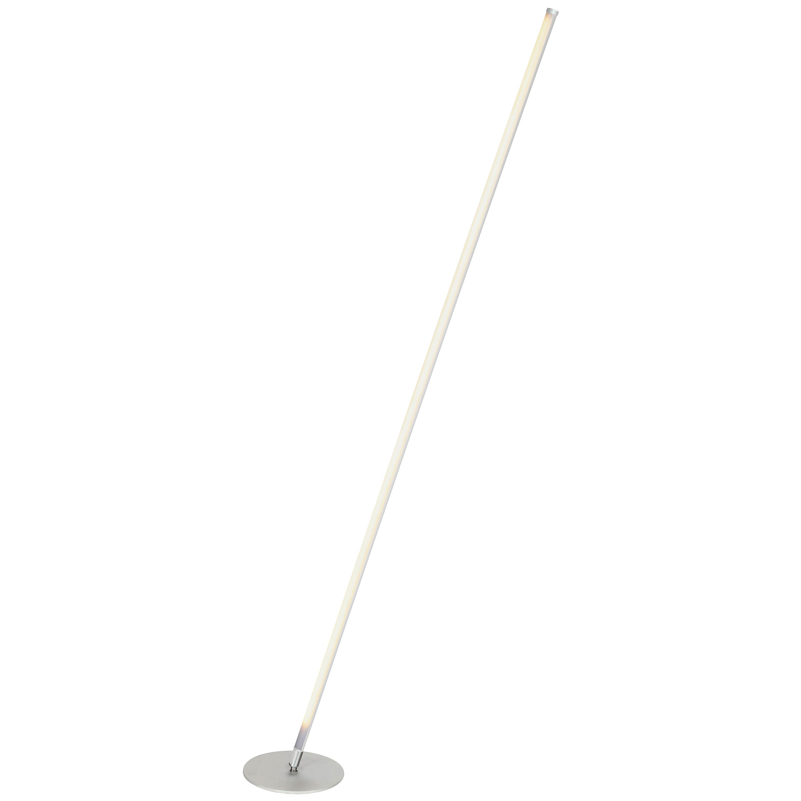 Brightech Tilt LED Floor Lamp for Living Rooms - Get Compliments: Modern Standing Pole Light for Family Rooms, Bedrooms & Offices - Bright, Dimmable Contemporary Lighting - Platinum Silver
