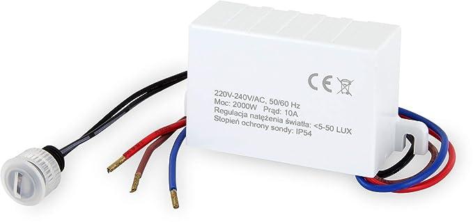 Empotrable Mini dämmme rungs Sensor IP54 – LED Adecuado 1 W de 2000 W – Interruptor