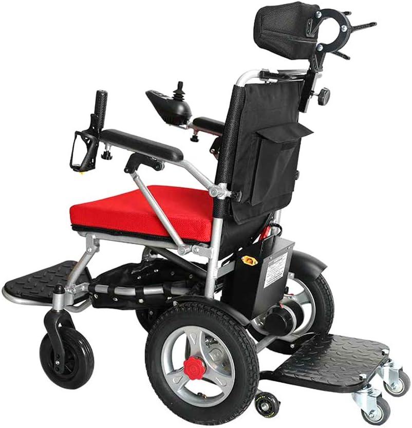 WANGXN Sillas de Ruedas de Litio de la batería para los inválidos Silla de Ruedas Ligera portátil Ancianos Plegable Desmontable eléctrica con Pedal
