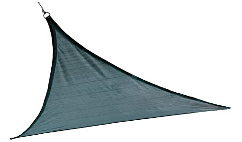 ShelterLogic 25736 Heavyweight 16 x 16 ft. Triangle Sea Blue Sun Shade Sail, 16 x 16