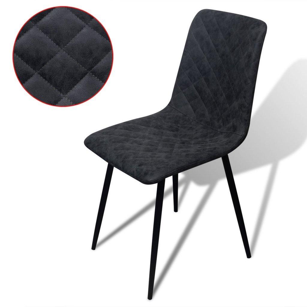 vidaxl set 2 pz sedie per sala da pranzo cucina salotto in pelle ... - Sedie Per Soggiorno In Pelle 2