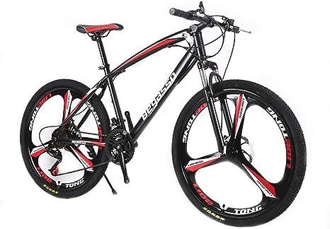 YQ Bicicleta De Montaña, Marco De Acero De Alto Carbono De 24