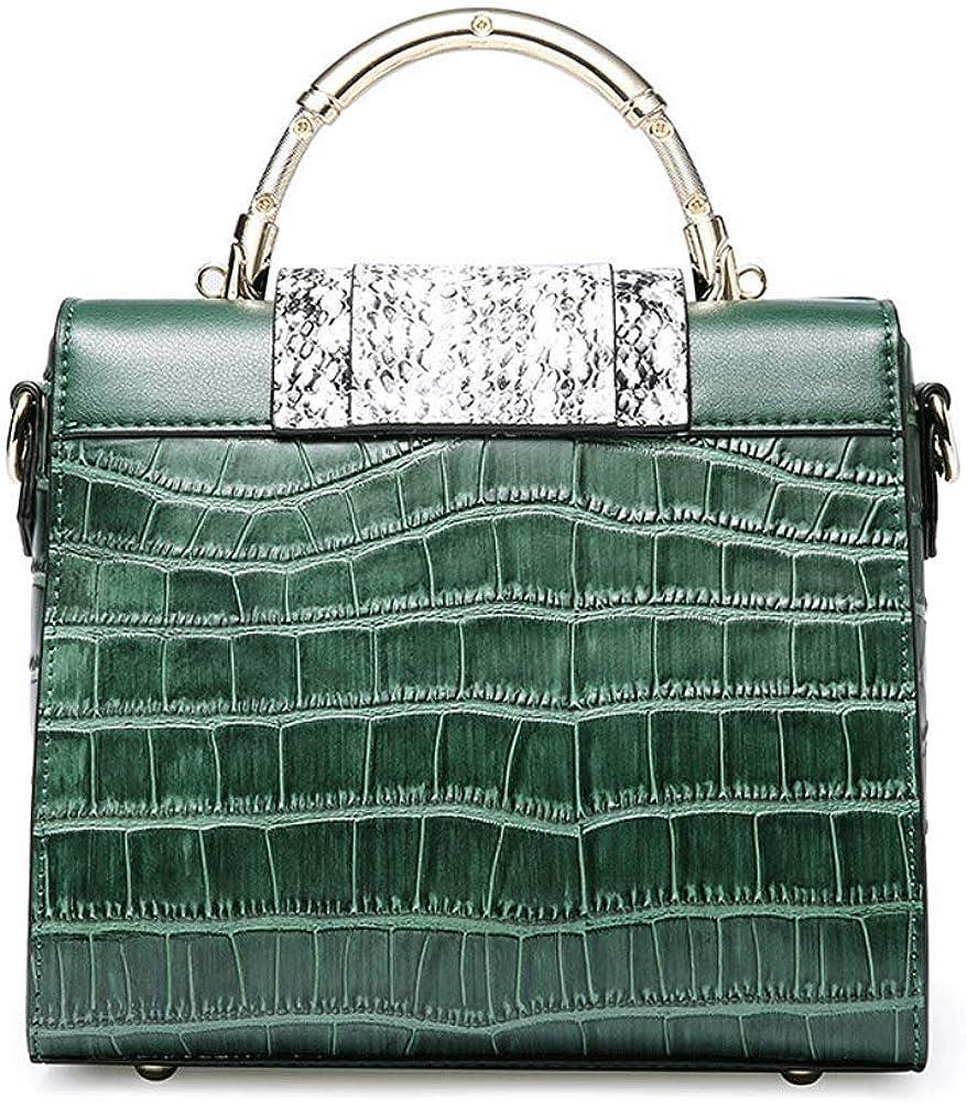 Bolso de cuero europeo y americano, bolso de hombro de textura animal, bolso de mensajero de moda, adecuado para regalos de Navidad para fiestas de citas Green ps9I2ayk