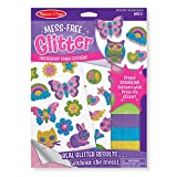 Make gorgeous sparkling stickers with press-on glitter! Our patented technology lets kids get the look and feel of real glitter without the mess. One simple process creates amazing results: Just peel away a section of white paper from the sticker sha...