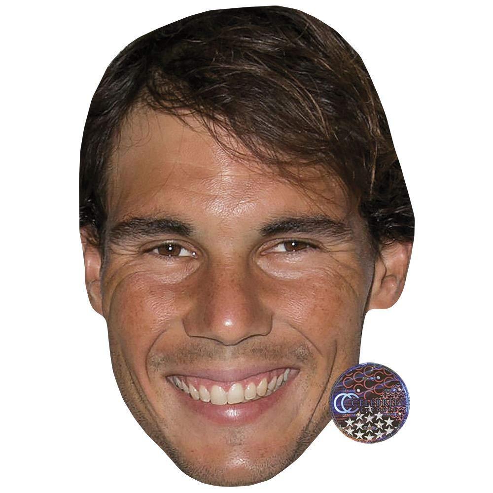 Larger Than Life mask. Celebrity Cutouts Rafael Nadal Big Head