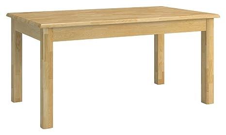 Legno massello Tavolo 130 x 80 cm in legno di quercia ...