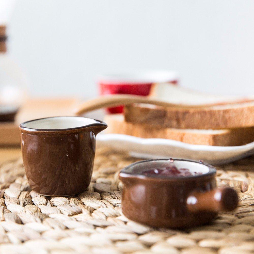 WJIANLL Potes de leche de cerámica color café,copa de leche copa de leche con mango leche aparato,bote,color marrón,UN: Amazon.es: Hogar