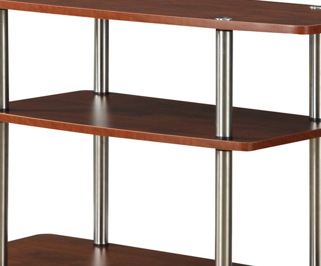 Convenience Concepts Designs2Go 3-Tier TV Stand for Flat Panel Television Up to 32-Inch or 80-Pound, Cherry by Convenience Concepts (Image #4)