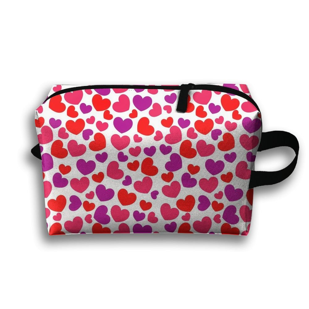 DTW1GjuY Lightweight And Waterproof Multifunction Storage Luggage Bag Heart Pattern2