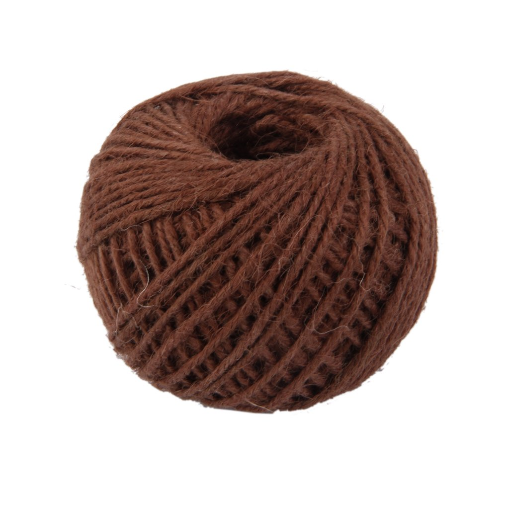 50M Wrap Gift Hemp Rope Ribbon Twine Rope Cord String Ball Beige Generic Others