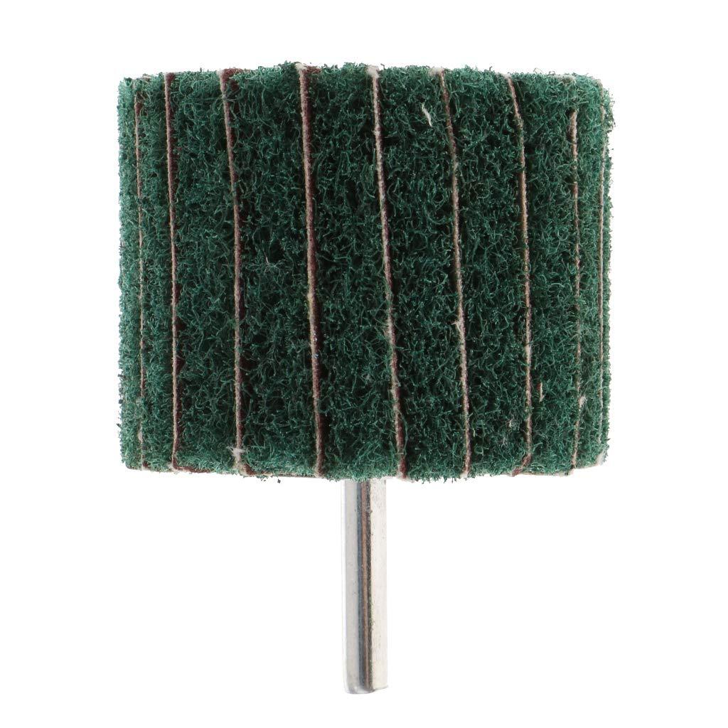 6 mm Rundschaft 60 /× 40 /× 6 mm mit Grits Green FLAMEER F/ächerschleifer Polierschleifscheibe mit Spanndorn f/ür Pr/äzisionswerkzeuge
