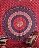 Indian Exotic Mandala Tapestry Intricate floral Wall hanging Labhanshi
