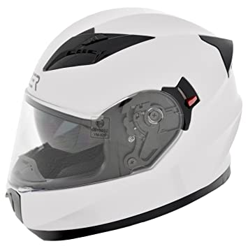 CRUIZER Casco Moto integral homologado, doble visera ece-22 – 05, color blanco