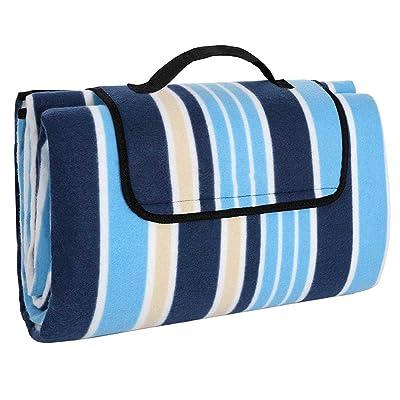 200cm x 150cm Portable pliable imperméable pique-nique couverture jardin de camping avec poignée GCM76S