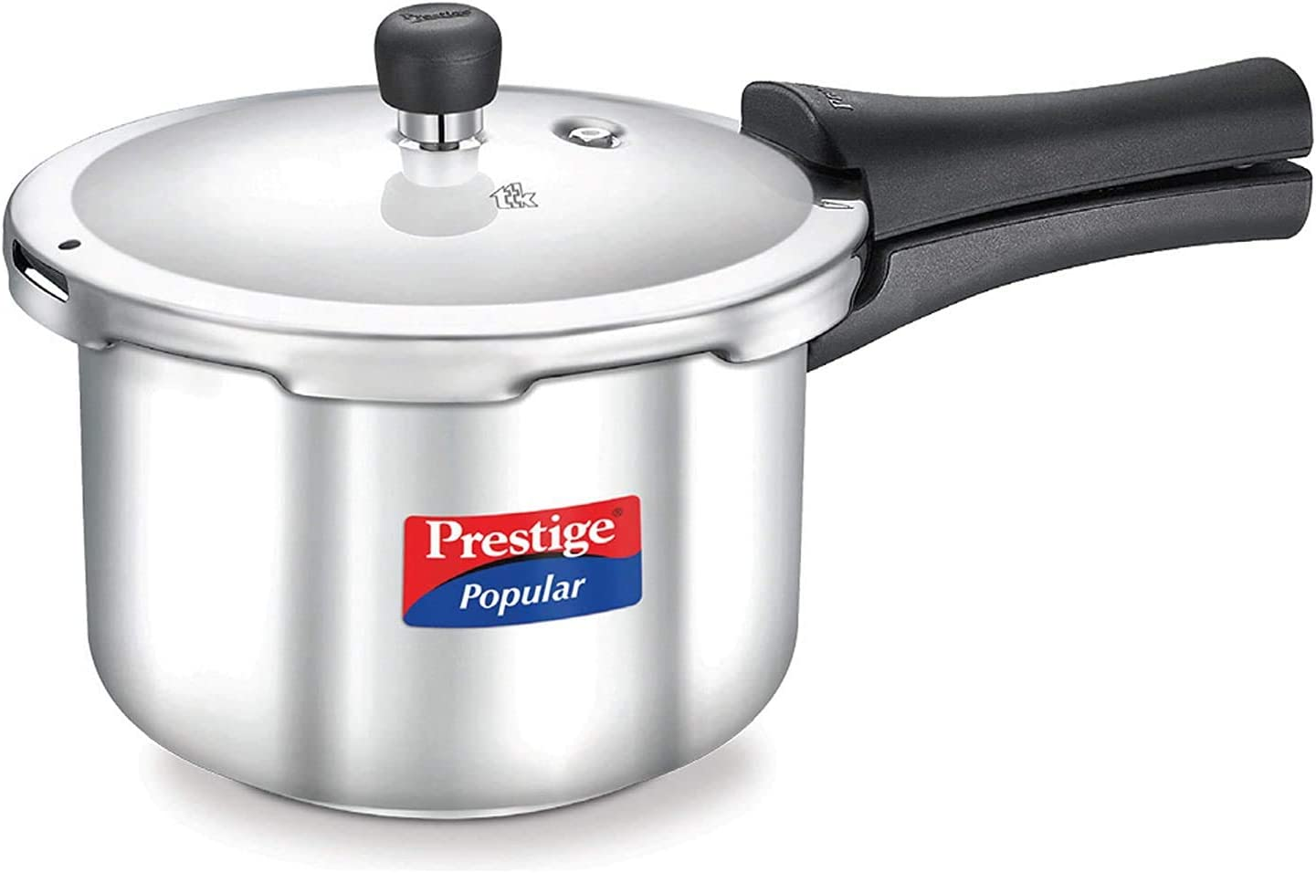 Prestige Popular Stainless Steel Pressure Cooker, 3 Litres with Safety Valve