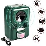 Volador Cat Repellent, Animal Repeller, Ultrasonic Solar Battery Powered Waterproof Garden Pet Deterrent With Motion Sensor and Flashing Light for Cats, Dogs, Bird, Squirrels, Moles, Rats.