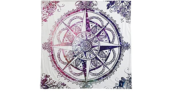 Amazon.com: DueWork 57 x 57 inch Square Retro Hippie Tribal Compass Beach Towel Yoga Mat Tapestries Blanket Swimwear Cover Up Wall hanging Dorm: Home & ...