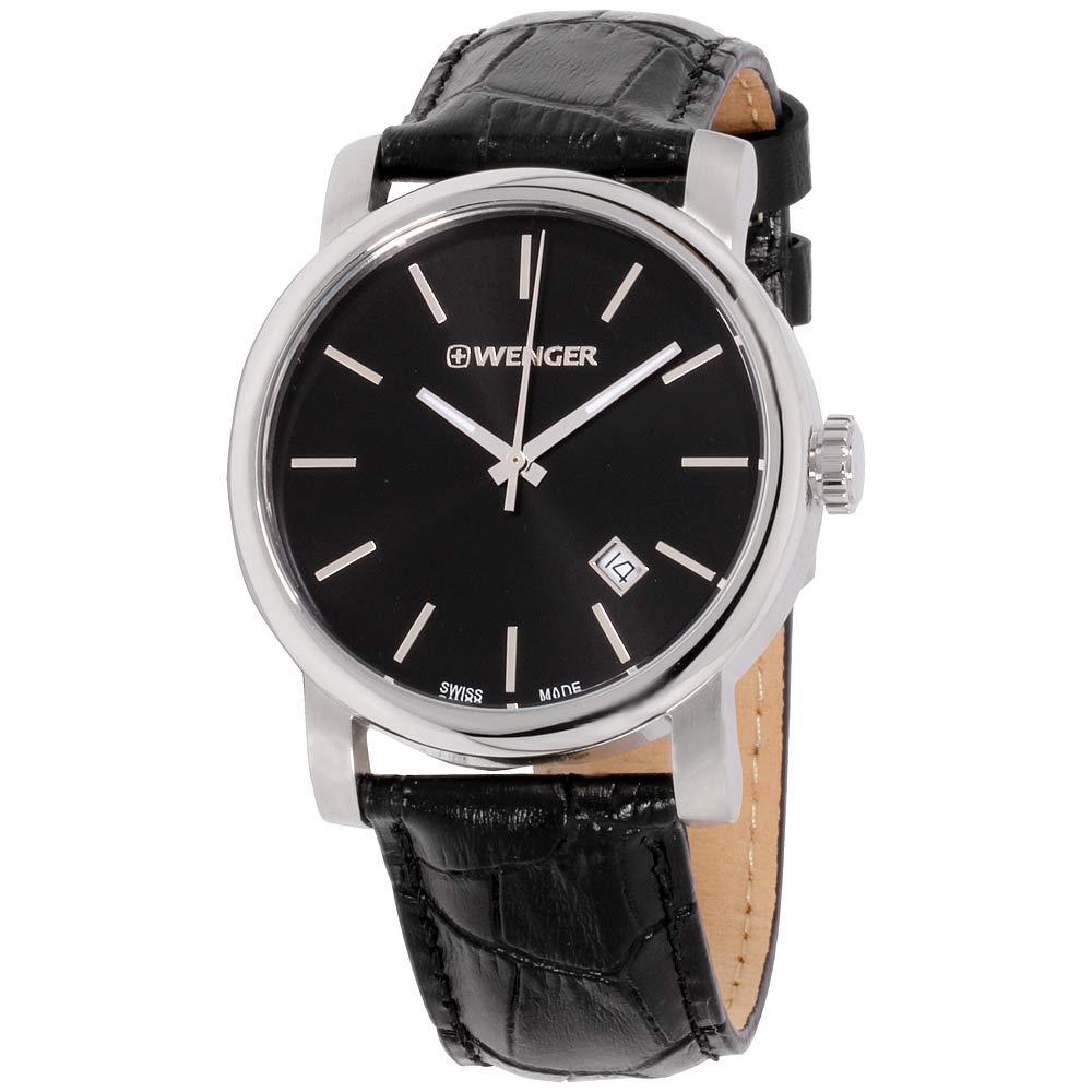 Wenger Urban Vintage Black Dial Leather Strap Men's Watch 011041139