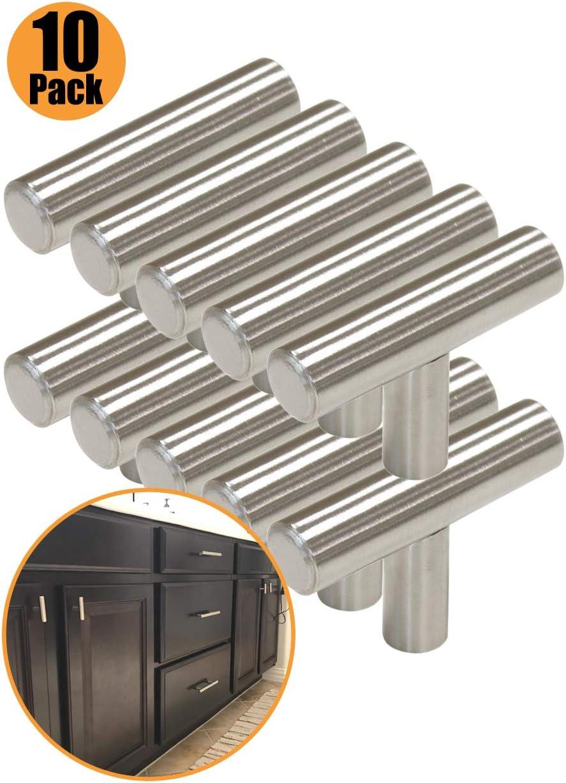 76 mm 224 mm 128 mm 192 mm 160 mm Boutons de portes en T pour meubles de cuisine 9 tailles : 50 mm Probrico 64 mm acier inoxydable 96 mm 256 mm