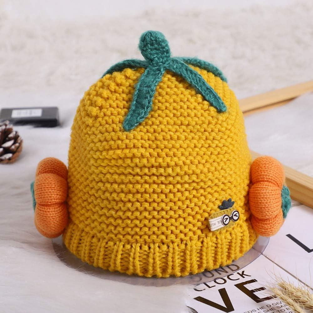 Fashion Baby Children Cap Fox Warm Winter Hats Knitted Wool Hemming HUHU833 Black