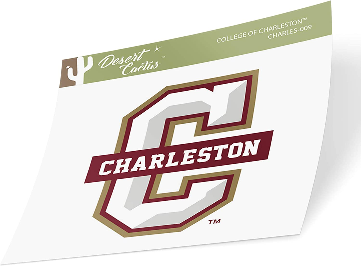 College of Charleston C of C Cougars NCAA Vinyl Decal Laptop Water Bottle Car Scrapbook Sticker - 009